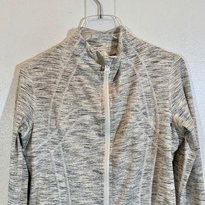 Lululemon Define Zip-Up Jacket Heathered Gray- 12